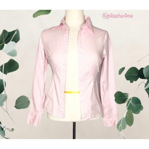 Ambiance Buttons Down Shirts Tops Light Pink Small